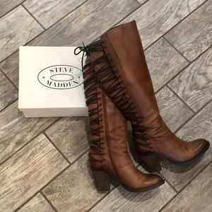 Steve Madden Boots (Lace Up) - Size 8.5